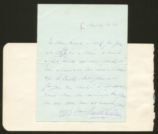 CHARLOTTE SAUNDERS CUSHMAN - AUTOGRAPH LETTER SIGNED CO-SIGNED BY: EDWARD NED HANLAN
