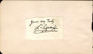 LOUIS AGASSIZ - AUTOGRAPH SENTIMENT SIGNED