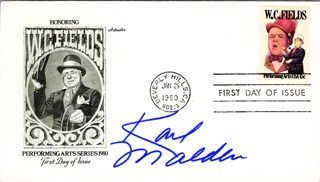KARL MALDEN - FIRST DAY COVER SIGNED
