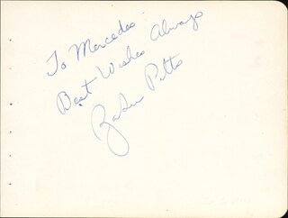ZASU PITTS - AUTOGRAPH NOTE SIGNED