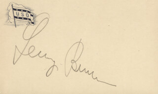 GEORGE BURNS - POST CARD SIGNED