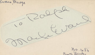 MADGE EVANS - INSCRIBED SIGNATURE CIRCA 1938