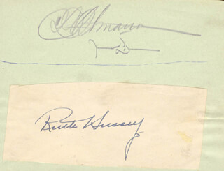 RUTH HUSSEY - AUTOGRAPH