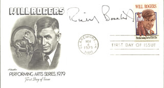RICHARD BASEHART - FIRST DAY COVER SIGNED