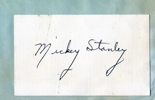 MICKEY STANLEY - AUTOGRAPH