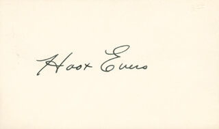 HOOT (WALTER) EVERS - AUTOGRAPH