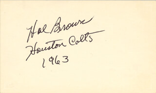 Autographs: HAL SKINNY BROWN - SIGNATURE(S) 1963