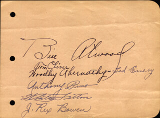 TED EMERY - AUTOGRAPH CO-SIGNED BY: TOM REBEL OLIVER, WILLIAM FRANKLIN BILL ATWOOD, WOODLEY ABERNATHY, ANTHONY PINO, WHITNEY FRITON, J. REX BOWEN