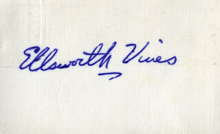 ELLSWORTH VINES - AUTOGRAPH