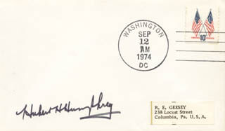 VICE PRESIDENT HUBERT H. HUMPHREY - ENVELOPE SIGNED
