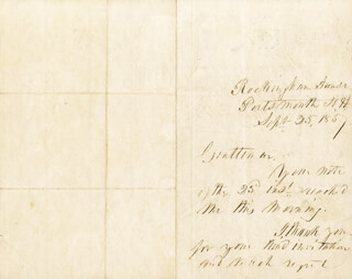 PRESIDENT FRANKLIN PIERCE - AUTOGRAPH LETTER SIGNED 09/25/1857