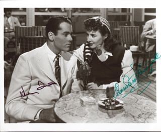 LADY EVE MOVIE CAST - AUTOGRAPHED SIGNED PHOTOGRAPH CO-SIGNED BY: HENRY FONDA, BARBARA STANWYCK