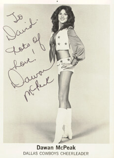 DAWAN McPEAK - INSCRIBED PRINTED PHOTOGRAPH SIGNED IN INK
