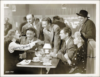 ADVENTURE MOVIE CAST - AUTOGRAPHED SIGNED PHOTOGRAPH CO-SIGNED BY: CLARK GABLE, GREER GARSON, JOAN BLONDELL