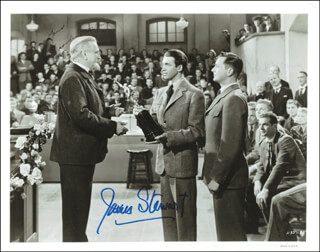 THE MORTAL STORM MOVIE CAST - AUTOGRAPHED SIGNED PHOTOGRAPH CO-SIGNED BY: JAMES JIMMY STEWART, ROBERT YOUNG, FRANK MORGAN