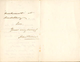 KING EDWARD VII (GREAT BRITAIN) - AUTOGRAPH LETTER SIGNED 10/08/1887