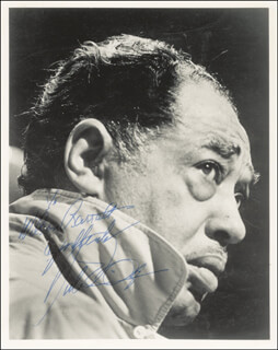 DUKE ELLINGTON - AUTOGRAPHED INSCRIBED PHOTOGRAPH