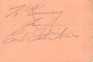 EARL FATHA HINES - INSCRIBED MENU SIGNED