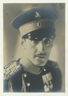 BASIL RATHBONE - AUTOGRAPHED SIGNED PHOTOGRAPH CIRCA 1936