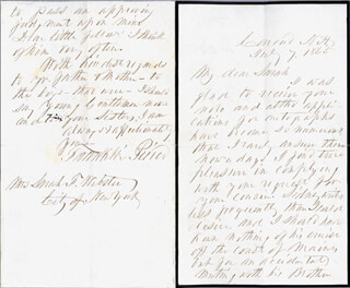 PRESIDENT FRANKLIN PIERCE - AUTOGRAPH LETTER SIGNED 07/07/1865