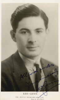 Autographs: LEO GENN - PICTURE POST CARD SIGNED