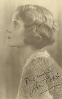 ANN TODD - AUTOGRAPHED SIGNED PHOTOGRAPH