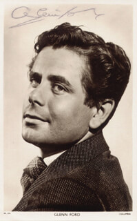 GLENN FORD - PICTURE POST CARD SIGNED