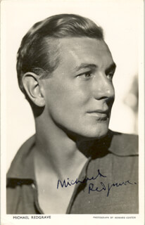 SIR MICHAEL REDGRAVE - AUTOGRAPHED SIGNED PHOTOGRAPH