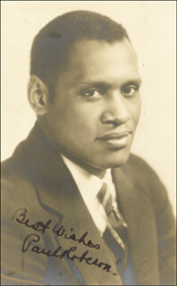 PAUL L. ROBESON - AUTOGRAPHED SIGNED PHOTOGRAPH