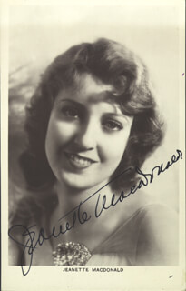 JEANETTE MacDONALD - PICTURE POST CARD SIGNED
