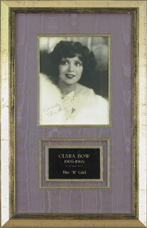 CLARA BOW - AUTOGRAPHED SIGNED PHOTOGRAPH