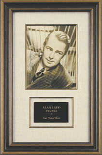 ALAN LADD - AUTOGRAPHED SIGNED PHOTOGRAPH