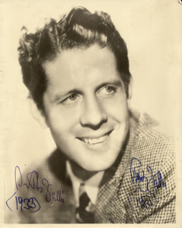 RUDY VALLEE - PHOTOGRAPH SIGNED TWICE 1980