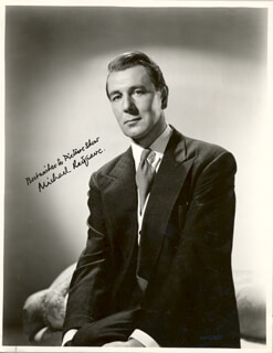 SIR MICHAEL REDGRAVE - AUTOGRAPHED INSCRIBED PHOTOGRAPH