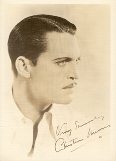 CHESTER MORRIS - AUTOGRAPHED SIGNED PHOTOGRAPH