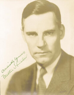 WALTER HUSTON - AUTOGRAPHED SIGNED PHOTOGRAPH