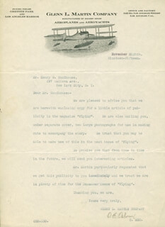 O. E. OSBORN - TYPED LETTER SIGNED 11/08/1915