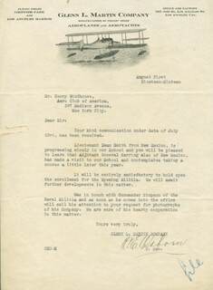 O. E. OSBORN - TYPED LETTER SIGNED 08/01/1916