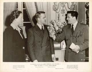 JOHN GARFIELD - AUTOGRAPHED SIGNED PHOTOGRAPH