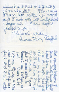 MARIE AHNIGHITO THE SNOW BABY PEARY STAFFORD - AUTOGRAPH LETTER SIGNED 06/14/1955