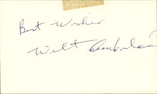 Autographs: WILT THE STILT CHAMBERLAIN - AUTOGRAPH SENTIMENT SIGNED