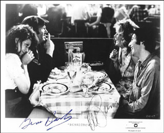 SCARECROW MOVIE CAST - PRINTED PHOTOGRAPH SIGNED IN INK CO-SIGNED BY: AL PACINO, GENE HACKMAN