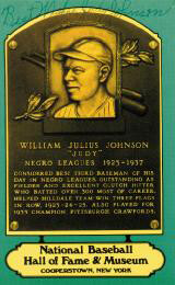 Autographs: JUDY JOHNSON - BASEBALL HALL OF FAME PLAQUE POSTCARD SIGNED