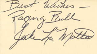 JAKE THE RAGING BULL LA MOTTA - AUTOGRAPH