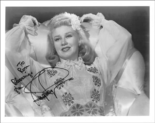 GINGER ROGERS - AUTOGRAPHED INSCRIBED PHOTOGRAPH