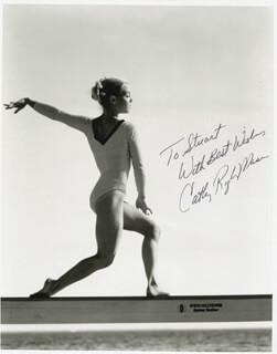 CATHY RIGBY - AUTOGRAPHED INSCRIBED PHOTOGRAPH