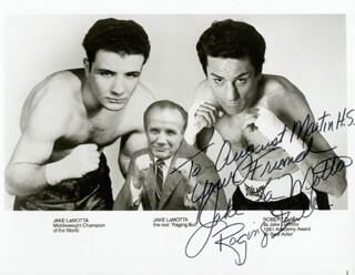 JAKE THE RAGING BULL LA MOTTA - AUTOGRAPHED INSCRIBED PHOTOGRAPH