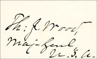 Autographs: MAJOR GENERAL THOMAS J. WOOD - SIGNATURE(S)