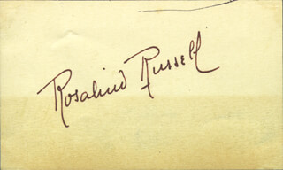 ROSALIND RUSSELL - AUTOGRAPH