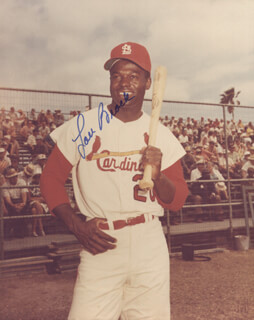 LOU BROCK - AUTOGRAPHED SIGNED PHOTOGRAPH